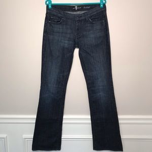 7 For All Mankind Dark Wash Bootcut Distressed